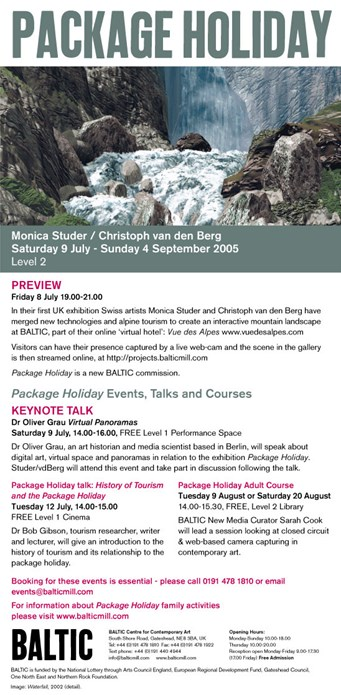 Monica Studer, Christoph Van Den Berg: Package Holiday: Preview e-flyer