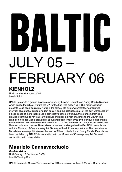 BALTIC listings July 05 - Feb 06