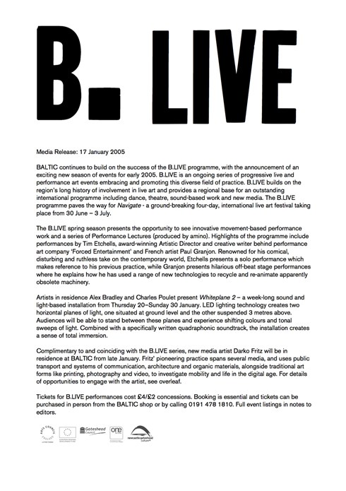 B.LIVE: Press Release
