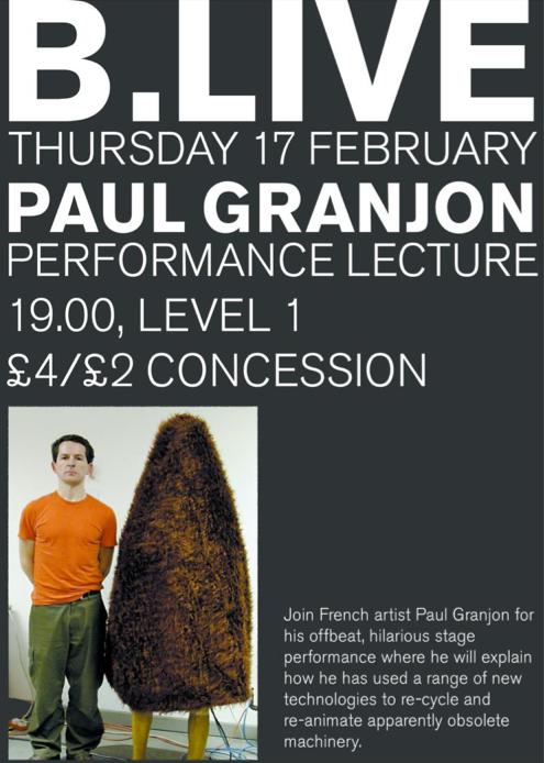 Paul Granjon Performance Lecture: Promo Postcard (02)