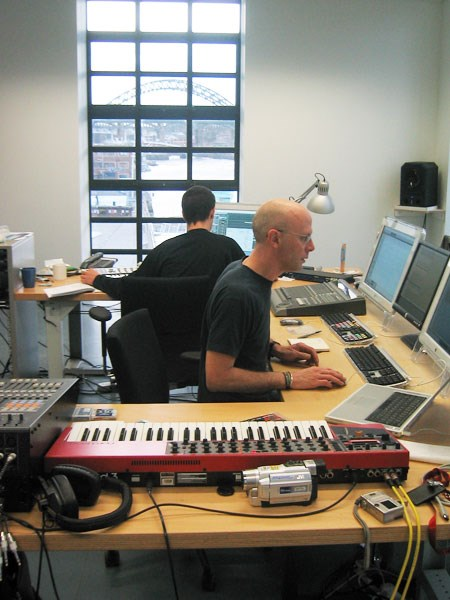 Whiteplane2: Alex Bradley and Charles Poulet: BALTIC artist in residence studio, Level 1A