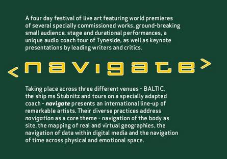 Navigate Live Art Festival: Programme
