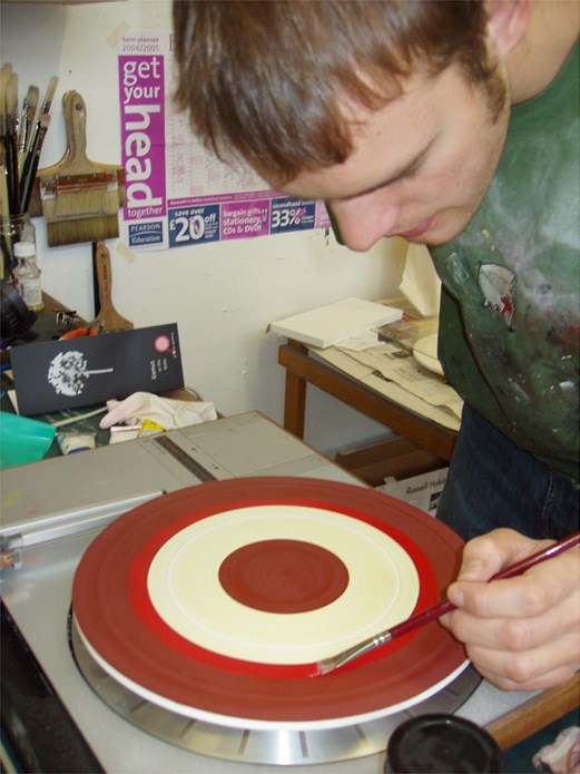 Alex Charrington: Record Player Painting 2005