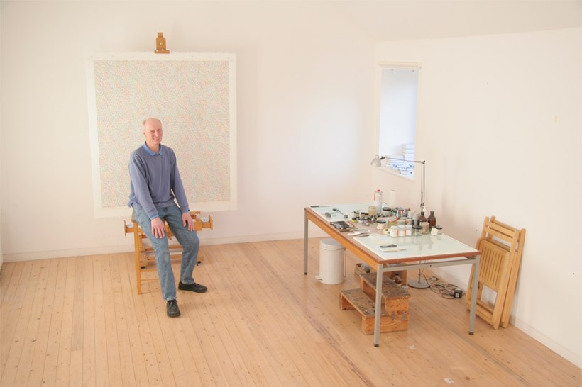 James Hugonin in his studio