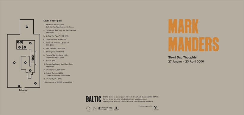 Mark Manders: Short Sad Thoughts: Exhibition Guide