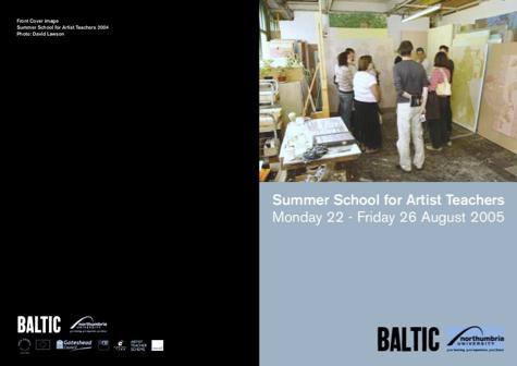 Summer School for Artist Teachers: Leaflet