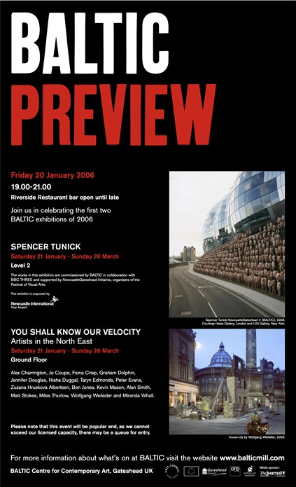 Spencer Tunick/You Shall Know Our Velocity: Preview Card