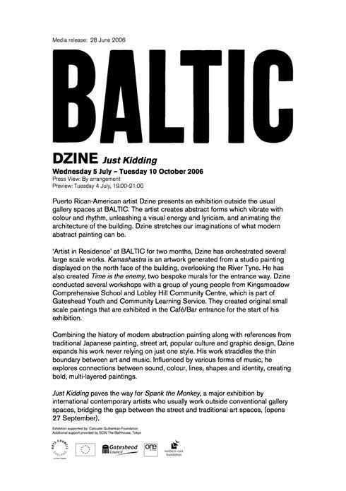 Dzine: Just Kidding: Press Release
