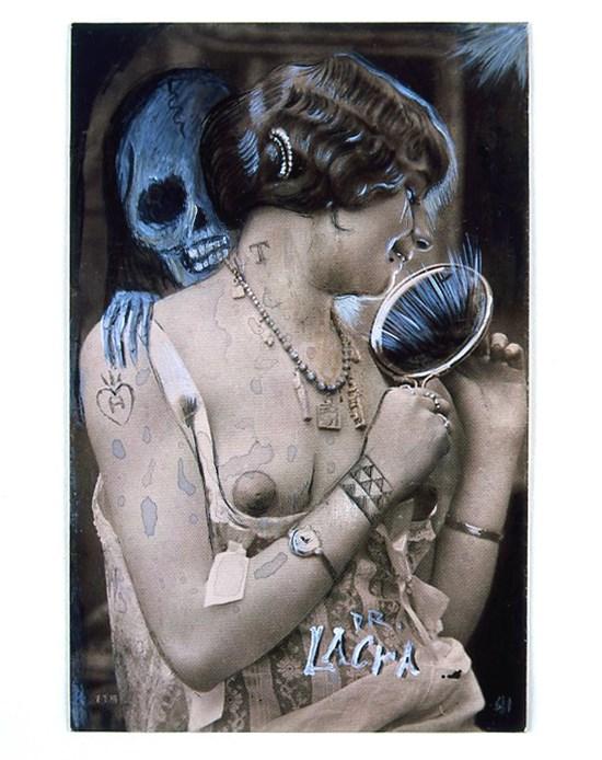 Dr Lakra: Untitled (mujer con espejo)
