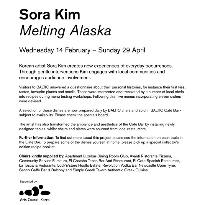 Sora Kim: Melting Alaska: Vinyl Wall Text