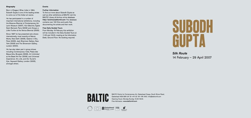 Subodh Gupta: Silk Route: Exhibition Guide