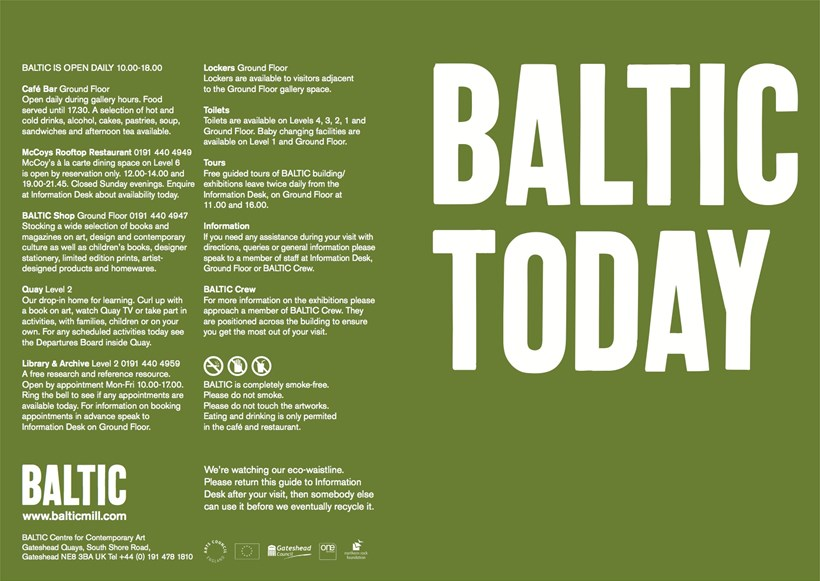 BALTIC Today: Visitor Guide (07/02)