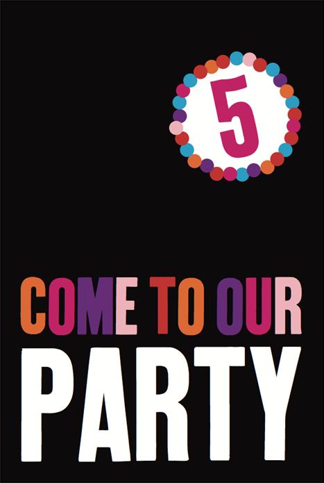 BALTIC 5th Birthday Party: Invitation