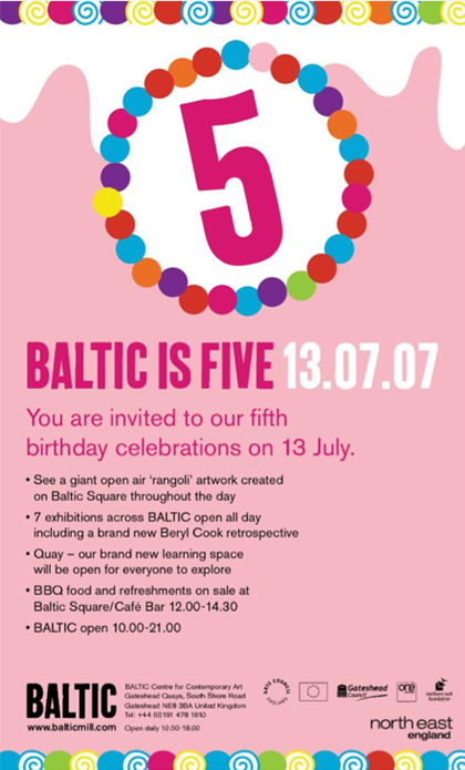 BALTIC 5th Birthday Party: Invitation: e-flyer