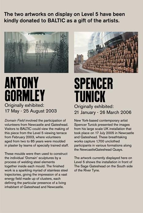 Antony Gormley & Spencer Tunick on Level 5: Text Panel