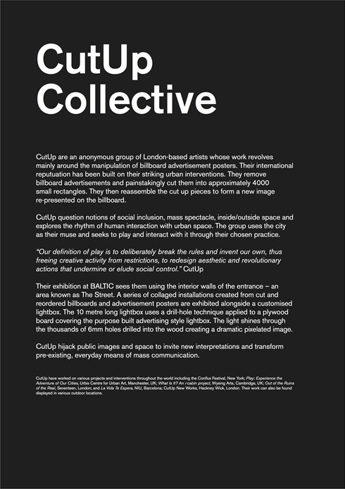 Cutup Collective: Exhibition Guide