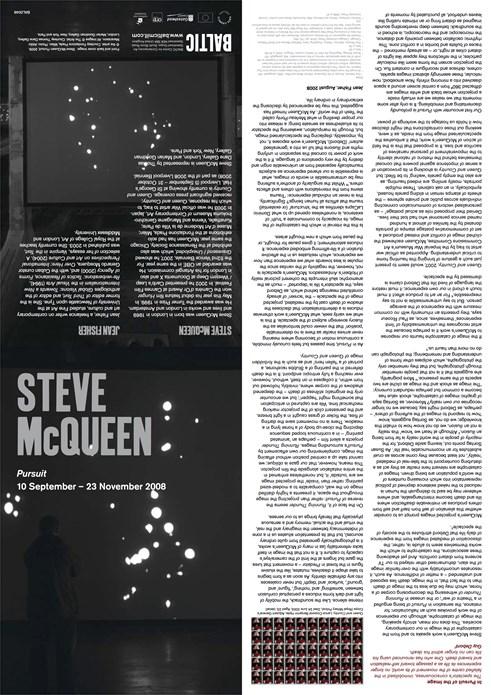 Steve McQueen: Pursuit: Interpretation Guide