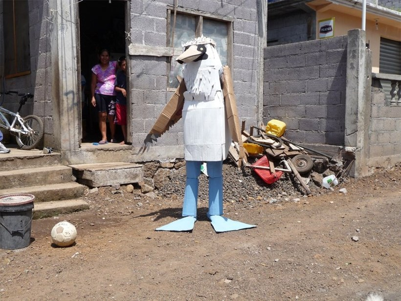 "A Duck for Mr Darwin: Marcus Coates: Blue Footed Booby (Performance Still from ""Human Report')"