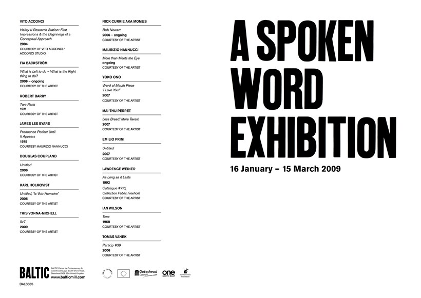 A Spoken Word Exhibition: Interpretation Guide
