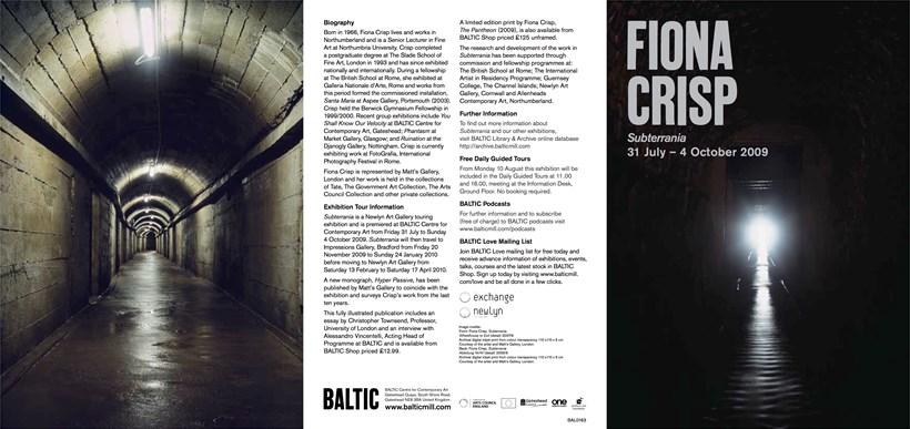 Fiona Crisp: Subterrania: Exhibition Guide