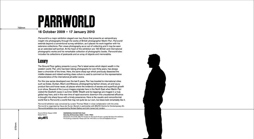 Martin Parr: Parrworld: Text Panel