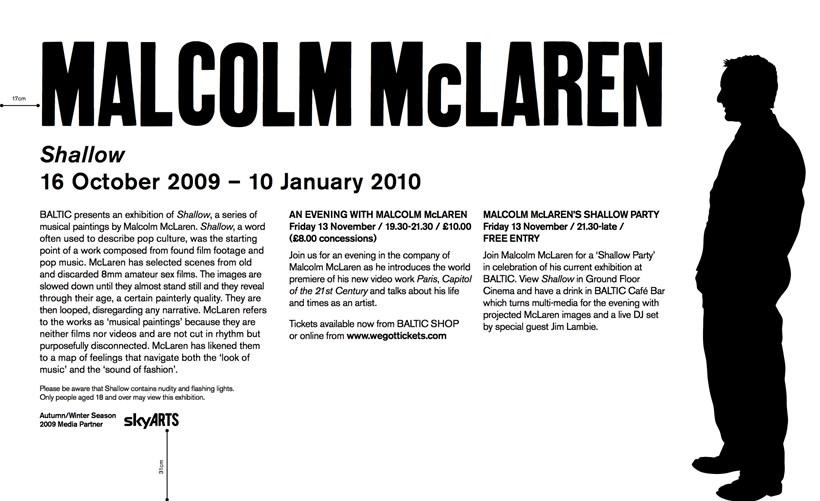 Malcolm McLaren: Shallow: Text Panel (vinyl)