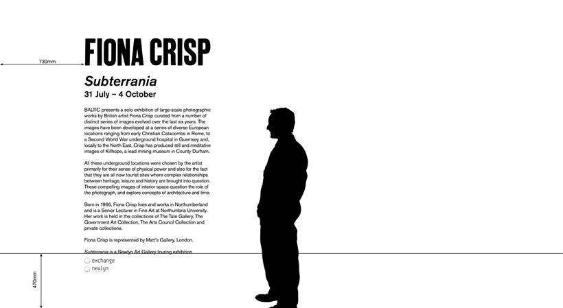 Fiona Crisp: Subterrania: Text Panel (Vinyl)