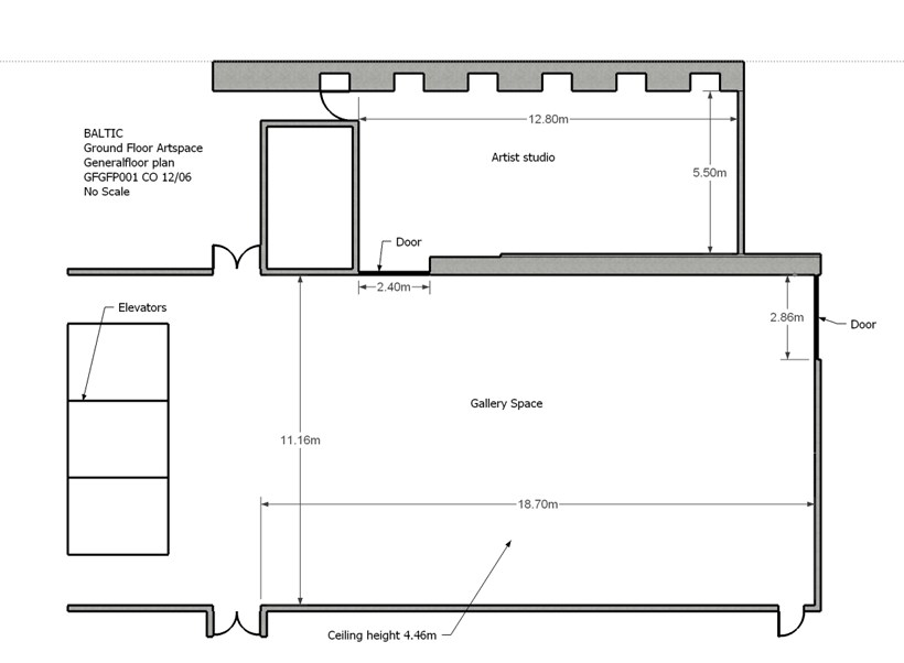 BALTIC Gallery Floor Plan: Ground Floor
