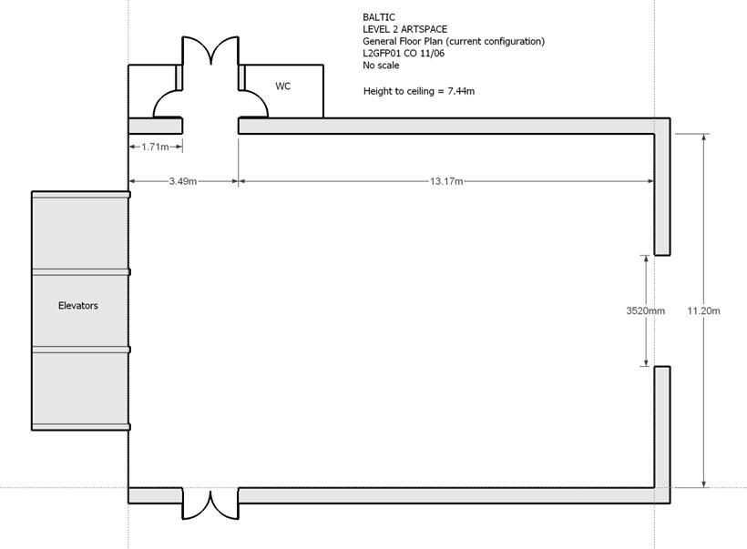 BALTIC Gallery Floor Plan: Level 2
