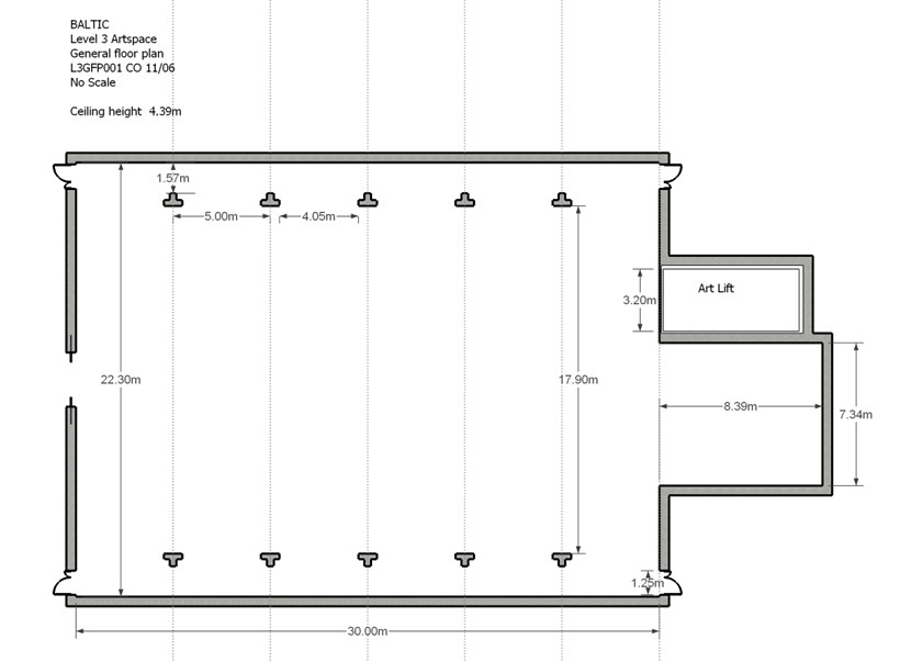 BALTIC Gallery Floor Plan: Level 3