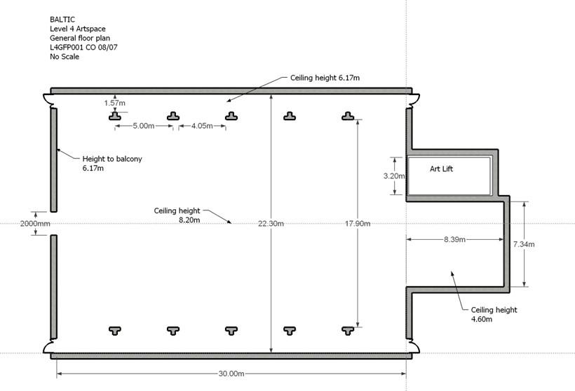 BALTIC Gallery Floor Plan: Level 4