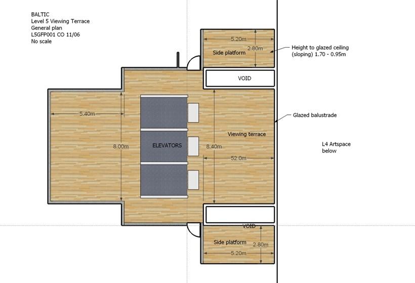 BALTIC Gallery Floor Plan: Level 5