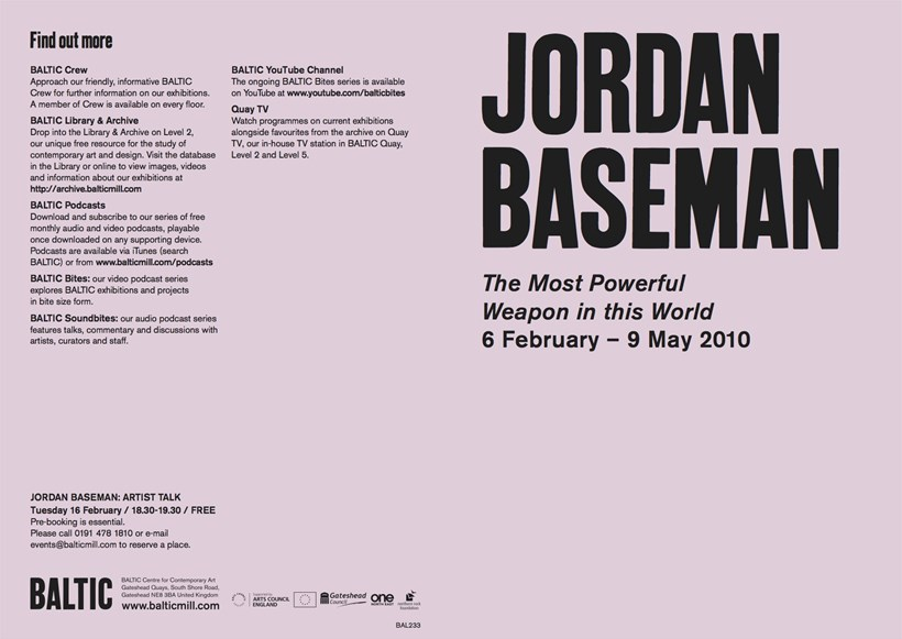 Jordan Baseman: The Most Powerful Weapon in the World: Exhibition Guide