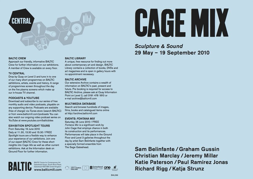 Cage Mix: Exhibition Guide