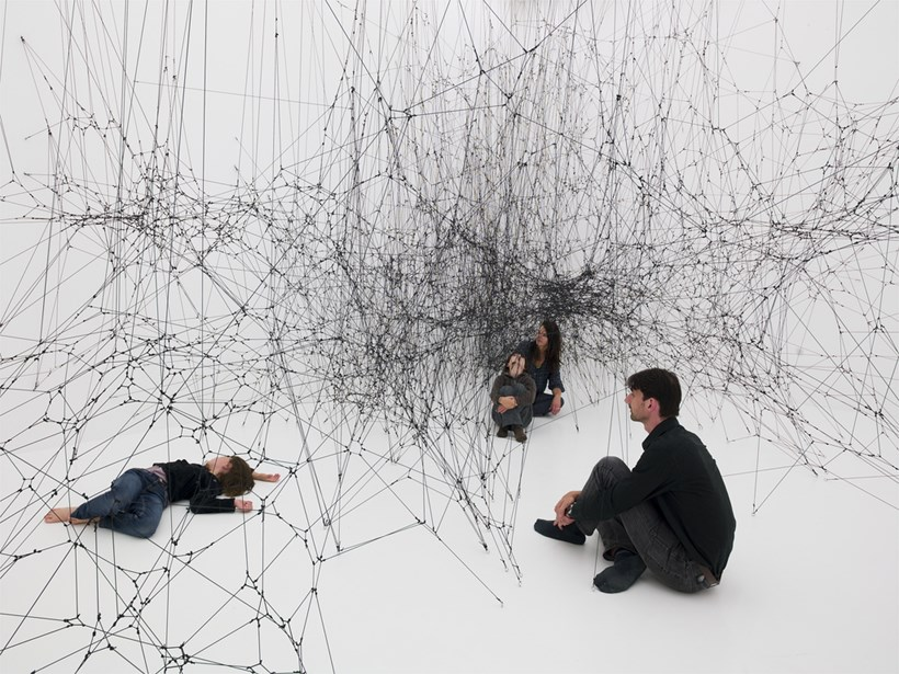 Tomas Saraceno: 14 Billions (working title) Installation shot (02)