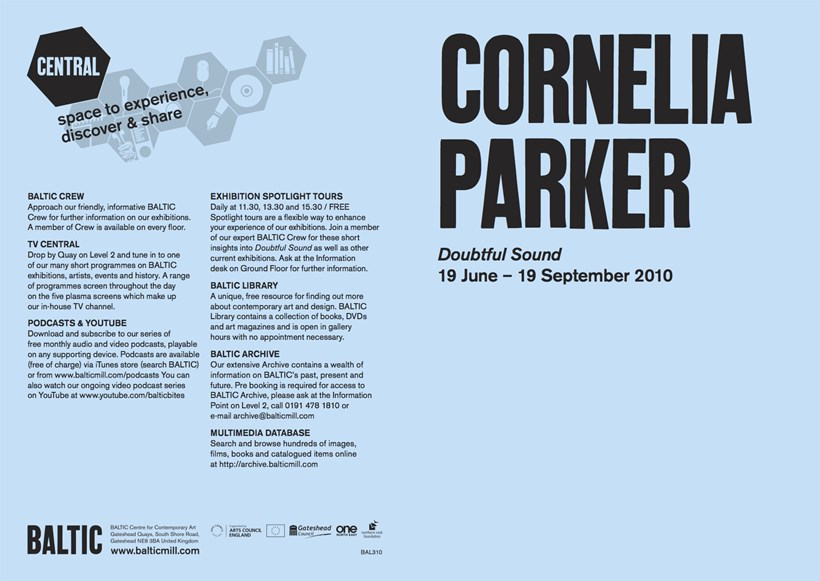 Cornelia Parker: Doubtful Sound: Exhibition Guide