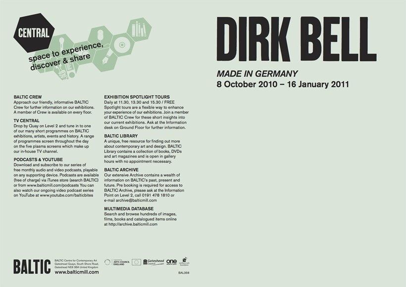 Dirk Bell: Made in Germany: Exhibition Guide