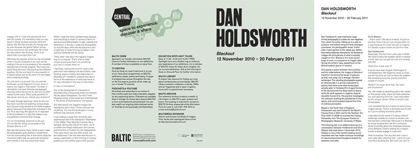 Dan Holdsworth: Blackout: Exhibition Guide