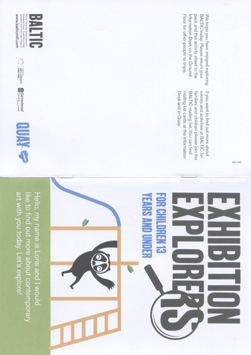 EXHIBITION EXPLORERS: Activity Booklet: Autumn Season 2011