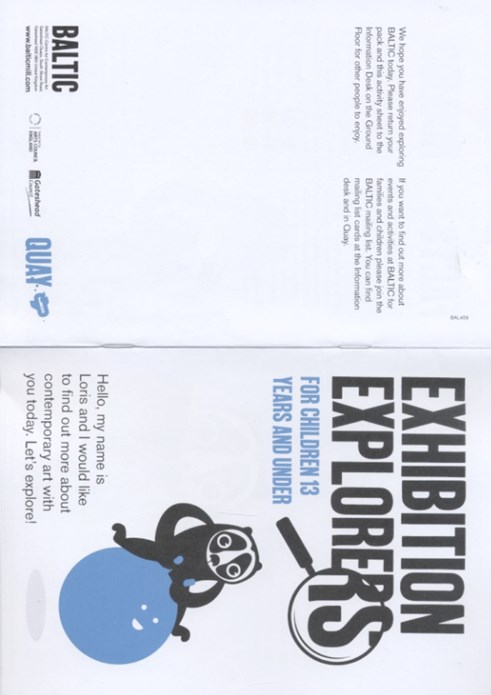EXHIBITION EXPLORERS: Activity Booklet: Summer Season 2011