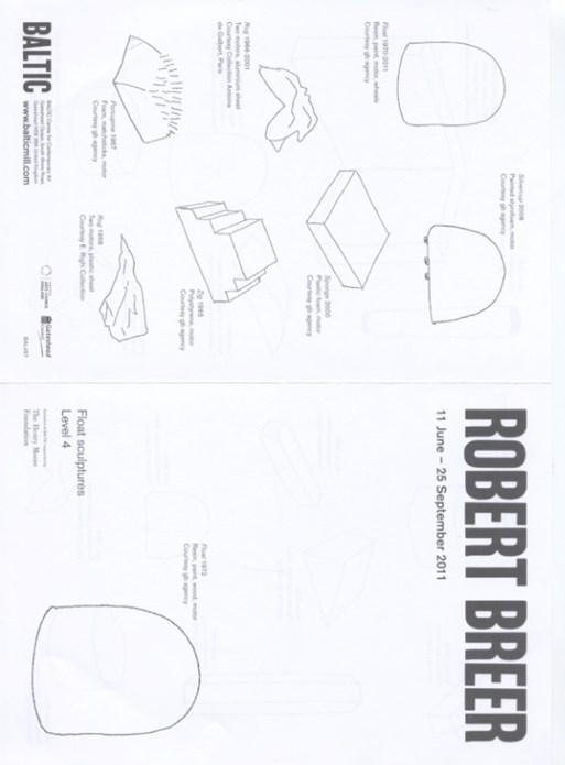 Robert Breer: Exhibition Guide: Float sculptures