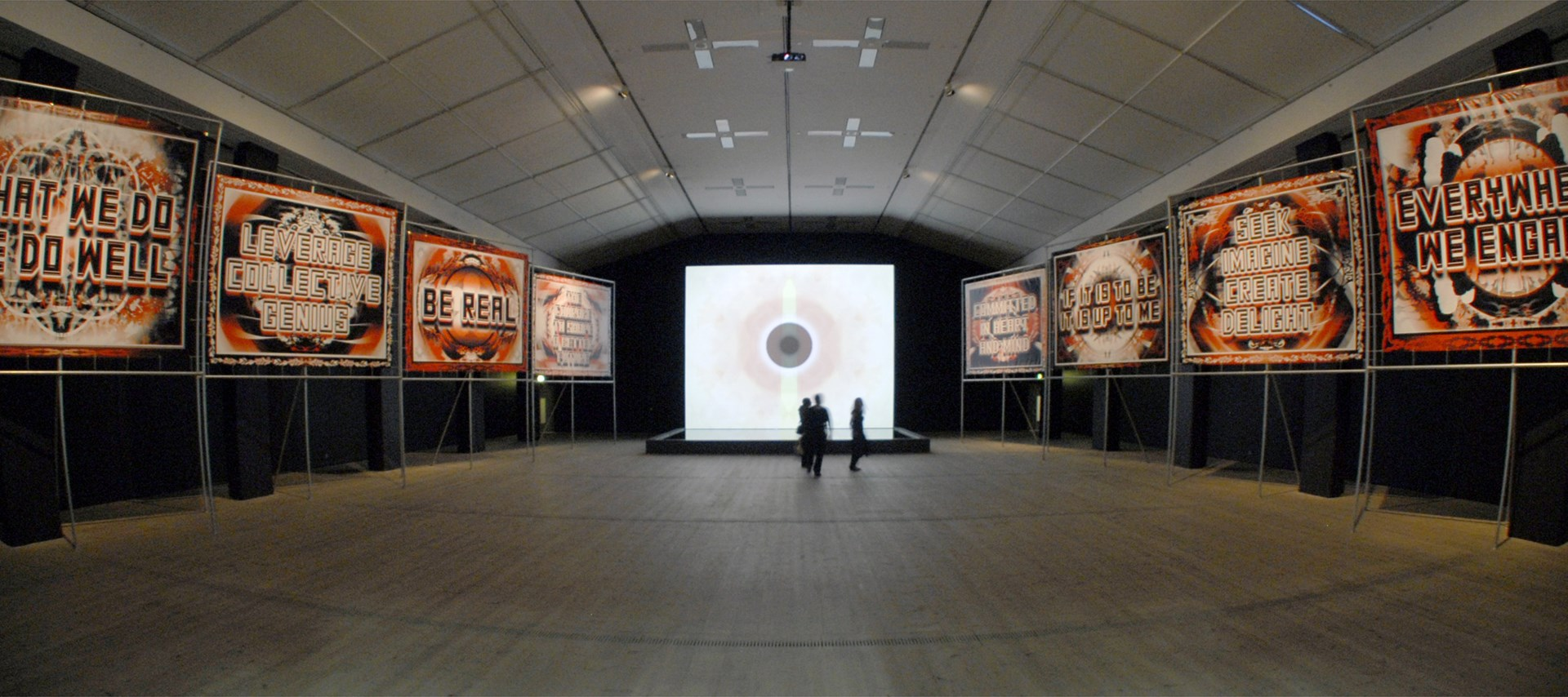 Mark Titchner: Run, Black River, Run: Exhibition Shot by Colin Davison