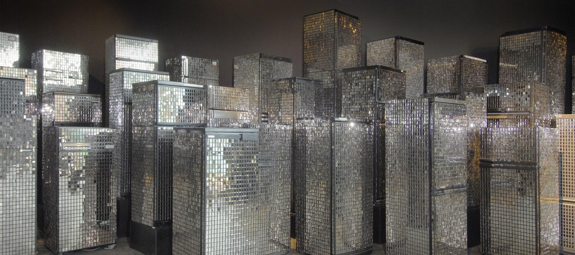 Kader Attia: Square Dreams: Exhibition image by Colin Davison
