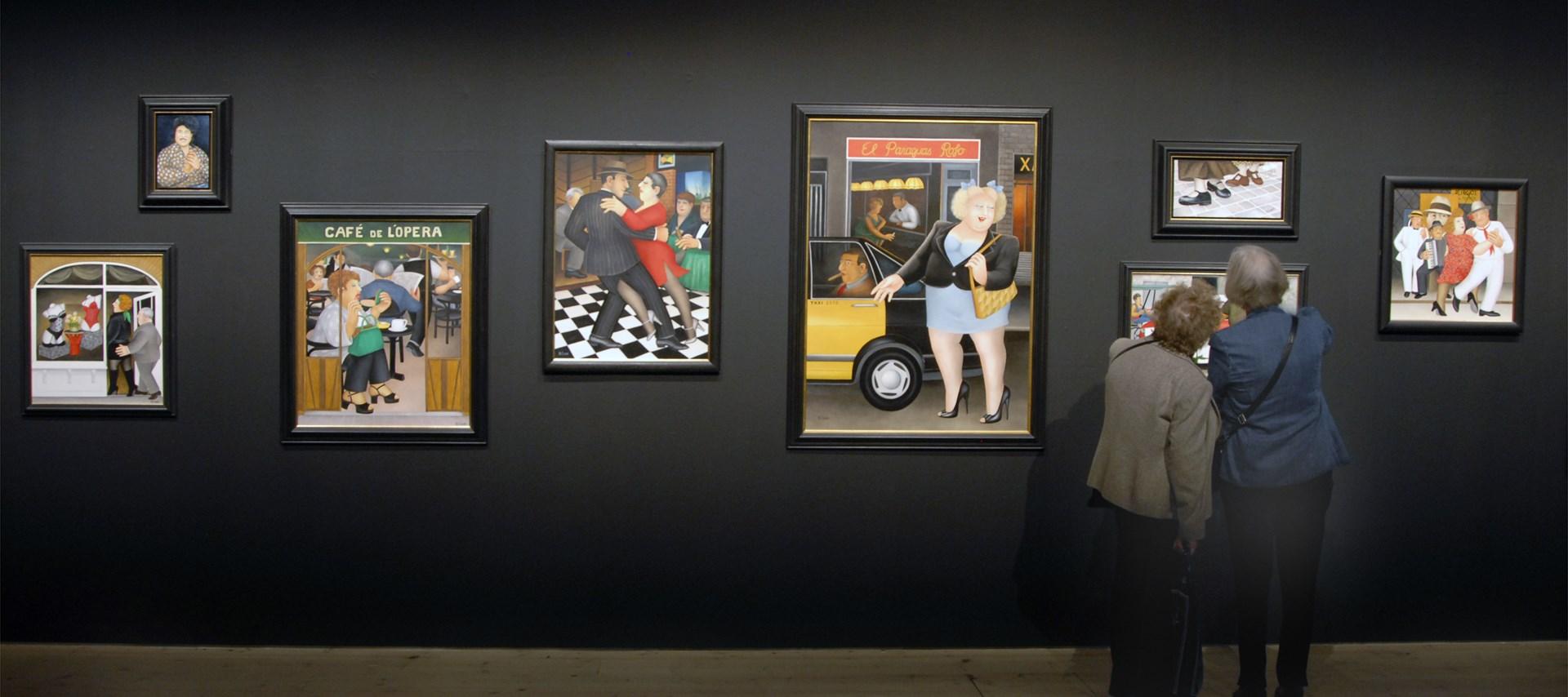 Beryl Cook: My World: Exhibition Image by Colin Davison