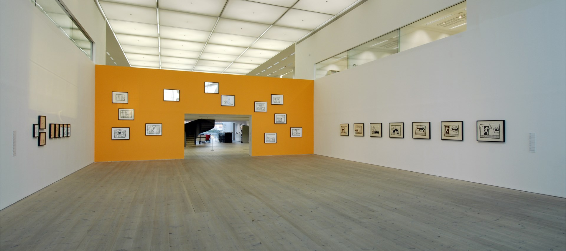 Keith Haring: Early Drawings: Installation shot by Colin Davison