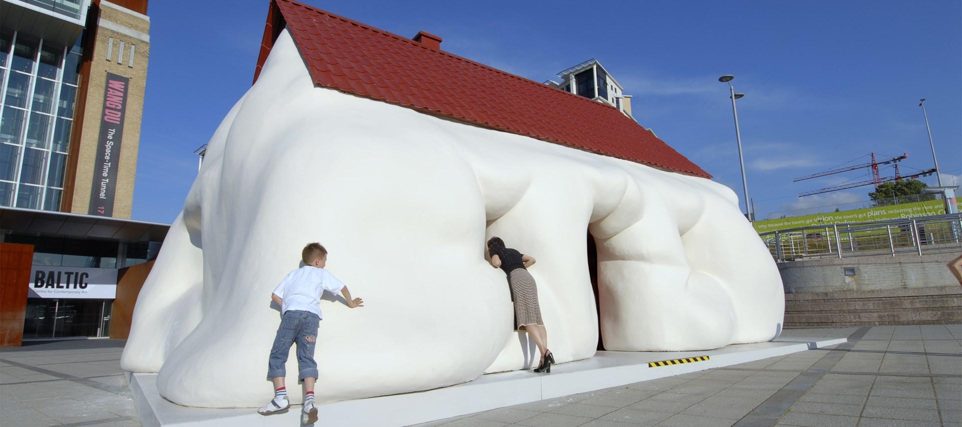 Erwin Wurm: New Sculptures: Fat House: Installation shot by Colin Davison