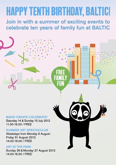 Tenth Birthday Family Fun: Flyer