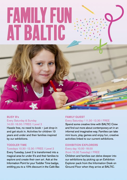 Family Fun at BALTIC: Flyer