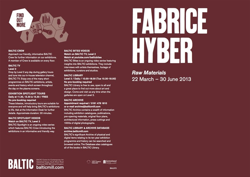 Fabrice Hyber: Raw Materials: Exhibition Guide