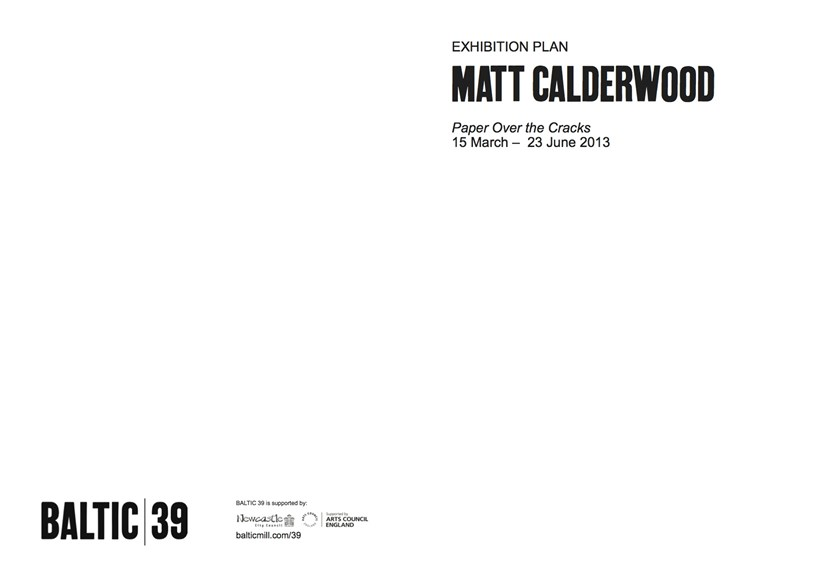 Matt Calderwood: Paper Over the Cracks: Exhibition Plan
